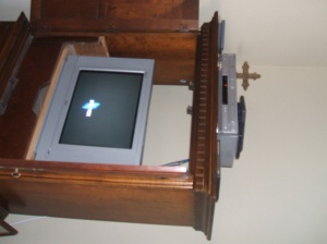 Our tv...sans cable...dvd's only...