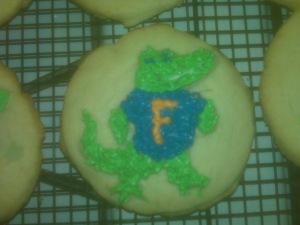 Florida Gator cookies